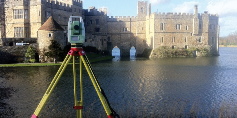Laser scanning grid Leeds Castle, Kent